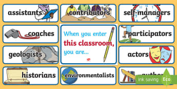 When You Enter This Classroom Display Pack - End of Year/Back to School Australia, when you enter this classroom display pack, classroom, goals,