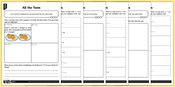 All the Twos Differentiated Activity Sheets - Multiplication and Division, 2x tables, 2 times table, 2 times tables, 2 multiplication table, multi