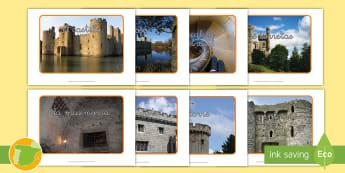 Fotos de exposición: El castillo - foso, edad media, medieval, historia, parapeto, muralla, rastrillo, puente levadizo, escalera de car