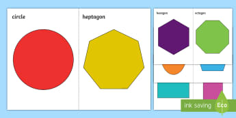 2D Shapes A5 Cut-Outs - Mathematics, Shape, flat shapes, shape pictures, naming shapes, identifying shapes, properties of sh