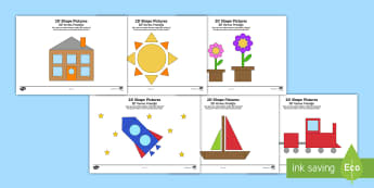 2D Shape Activity English/Afrikaans - math, numeracy, square, rectangle, circle, wiskunde, EAL