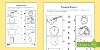 Laute Deutsch - 1./2. Klasse Deutsch Primary Resources