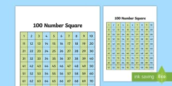 Giant 100 Square - giant, 100 square, square, 100, numbers, maths
