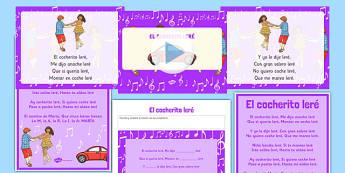 El cocherito Spanish Nursery Rhymes Resource Pack - spanish, el cocherito, nursery rhymes, resource pack