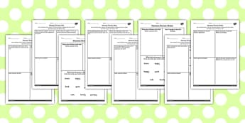 The Secret Garden Differentiated Character Profile Worksheets Pack - secret