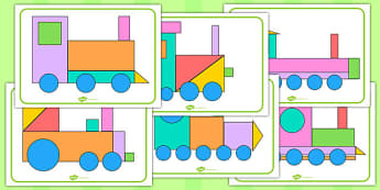 Shape Train Picture Pack - shape, train, picture pack, pack