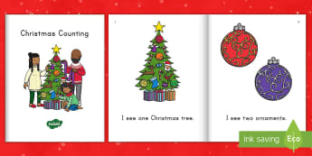 Christmas Counting Emergent Reader eBook - Early Readers, Number Recognition, one-to-one correspondence, Reading Groups, Math Emergent Reader