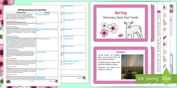 EYFS Spring Discovery Sack Plan and Resource Pack - eyfs, spring, seasons, weather, sack