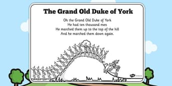 The Grand Old Duke of York Colouring In Sheet - colours, sheets