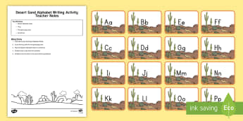 Desert Sand Alphabet Writing Activity - desert habitat, desert animals, habitats, literacy, pre-k literacy, kindergarten literacy, fine moto