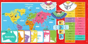 Crăciunul în jurul lumii - Joc de masă - Ccraciunul in jurul lumii, craciun, tarile lumii, materiale, jocuri, română, joc, crăciun, geogra