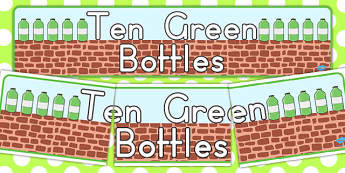 Ten Green Bottles Display Banner - australia, display, banner