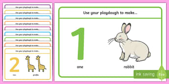 1 10 Animal Counting Playdough Mats - 1-10 animal counting playdough mats, playdough mats, counting mats, counting 1-10, counting 1-10 playdough mats