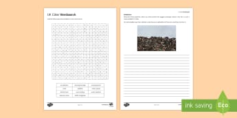Urban Problems Word Search Worksheet / Activity Sheet - Secondary - Geography - Urbanisation, worksheet, problems