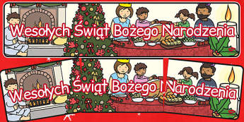 Wesolych Swiat Bozego Narodzenia - banner po polsku do pobrania , Polish
