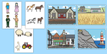 The Train Ride Story Cut-Outs - The Train Ride, June Crebbin, journey, transport, resources, rhyme, rhythm, tractor, story, story book, story book resources, story sequencing, story resources, cut out