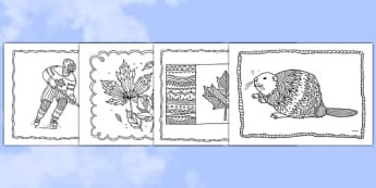Canada Mindfulness Colouring Sheets - canada, mindfulness, colouring, colour, de-stress, calm down