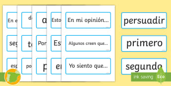 Tarjetas de vocabulario: La escritura argumentativa - escritura argumentativa, vocabulario, frases, tarjetas, lengua, castellana,Spanish