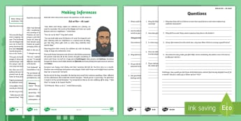 Eid al-Fitr Inference  Differentiated Activity Sheets - read, respond, infer, Muslim, Islam, celebration, religion,