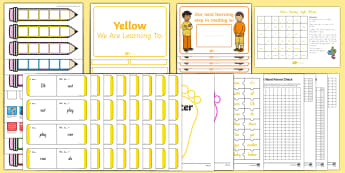 Yellow Sight Words Resource Pack - Sight words, yellow, yellow sight words, nz literacy, reading