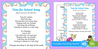 Time for School Song