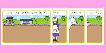 Washerwoman Playdough Mats - mrs wishy washy, washerwoman, playdough mats