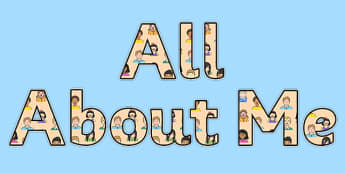 All About Me Display Lettering Sentence - All, About, Me, Display