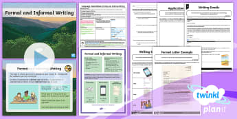 PlanIt Y6 Language Conventions: Formal and Informal Writing Lesson Pack - , year 6, language, expressing and developing ideas, ACELA1516, aCELY1816, ACELY1714, Literacy, crea