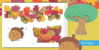 Little Acorns Story Cut-Outs - twinkl originals, fiction, KS1, EYFS, story re-telling, retelling, story cut outs, small world, disp