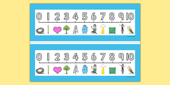 Number Formation SEN Number Line, overwriting