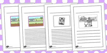 The Enormous Turnip Writing Frames Sequencing Cards - writing