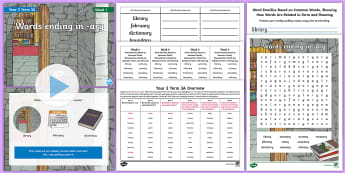 Year 3 Term 3A Week 1 Spelling Pack - y3, spelling test, look say cover write check, spelling rules, activities