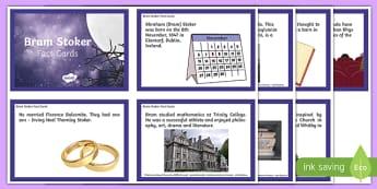 Bram Stoker Fact Cards-Irish