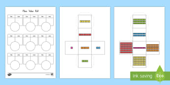 Place Value Dice Net and Worksheet / Activity Sheet - New Zealand, maths, place value, dice, nets, numbers to 20, Years 1-3, partitioning, Worksheet