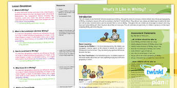 Geography: What's It Like in Whitby? Year 4 Planning Overview