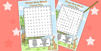 Guess How Much I Love You Wordsearch - word games, story books