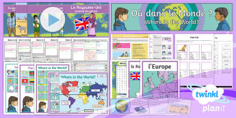 French: Where in the World? Year 4 Unit Pack