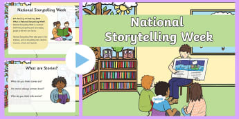 National Storytelling Week 2018 Assembly PowerPoint - National Storytelling Week, 2016, assembly, school, storytelling, week