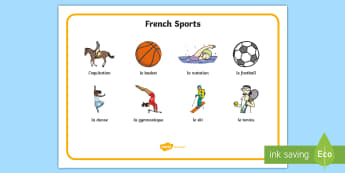 French Sports Word Mat - -Scottish - KS3, french, word mat, sports, leisure, freetime, passe-temps, vocabulary, keywords,French,KS1