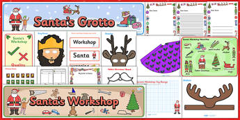Christmas Role Play Resource Pack - christmas, role play, xmas