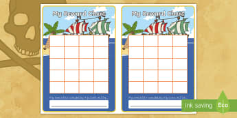 Pirate Sticker Stamp Reward Chart -Pirate Sticker Stamp Reward Chart, pirate, pirates, ship, charts, chart, award, well done, reward, medal, rewards, school, general, achievement, progress, treasure, jolly roger, island, ocean