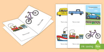 Transportation Emergent Reader - transportation, emergent reader, transportation emergent reader, things that go, vehicles, sight wor