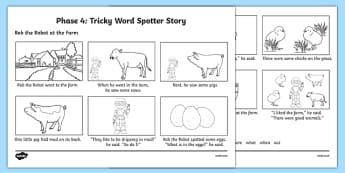 Phase 4 Tricky Word Spotter Story