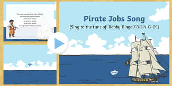 Pirate Jobs Song PowerPoint