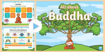 All about Buddha PowerPoint - R.E., Religion, Faith, Buddhism, Buddhist