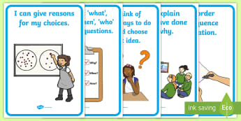 NI Thinking Skills and Personal Capabilities Thinking, Problem Solving, Decision Making Statements Display Posters - TSPC, Success Criteria, Northern Ireland, Curriculum, Targets