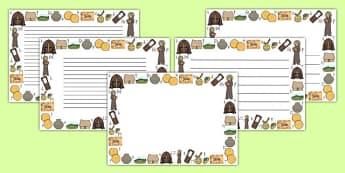 Anglo-Saxon Page Borders Landscape - anglo-saxon, page borders, page, borders, landscape