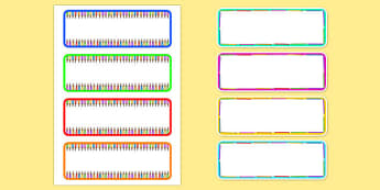 Colouring Pencil Drawer and Peg Labels - colouring, pencil, labels