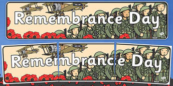 Remembrance Day Display Banner - remembrance day, display, banner
