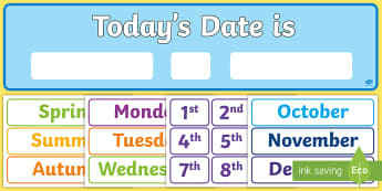 Todays Date Display Pack - display pack, today, date, display
